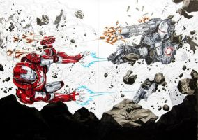 Ironman vs WarMachine by Keatopia