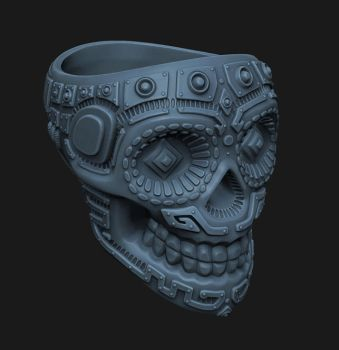 Skull Ring 01 by chooj