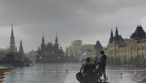 Moscow-Red Square under the rain by silvioverderosa