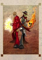 Skullduggery and Ghastly by HoT-RoD-Monster