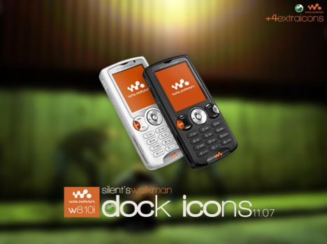 W810i Dock Icons by Siiilent