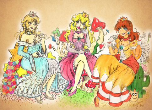 Princesses Having a cup of tea by Lea-Manga