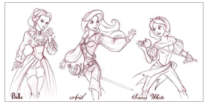 Disney Pirate Princesses I by CapnFlynn
