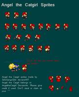 Angel the Catgirl sprites by GirlsGangsGirls