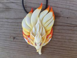 Ninetails Necklace - Through Fire and Flame by Gatobob