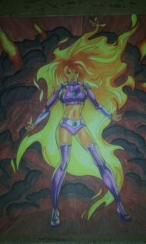starfire comic cover  by NightMoonShine