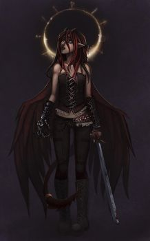 commish: chaos angel-COLOUR by hchan