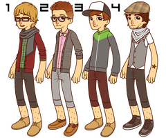 Hipster Adoptables! LOL by ThisIsBreadie