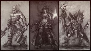 Diablo 3 fanart sketch.. by 3dsquid