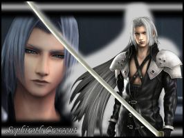 FFVII:CC - Sephiroth Wallpaper by Orga-Kuttie-Tarka