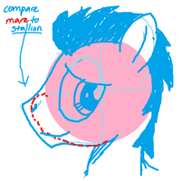 How I Draw: Pony Face - Profile - Stallion by buckweiser