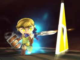 Toon Link Triforce by zabadoohp