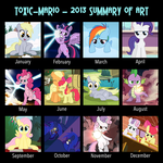 2013 Pony Art Summary by Toxic-Mario