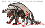 Battle Bloodied Winged Panther - Commission by WildSpiritWolf