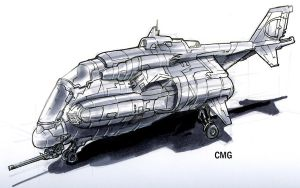 Mini Gunship by MeckanicalMind