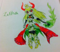Brave Frontier: Zellha by Zorceus