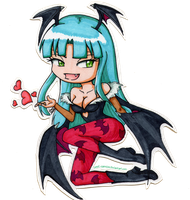 Chibi Morrigan by sweet-carmine