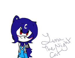 Luna the night Cat by Kittenfire22
