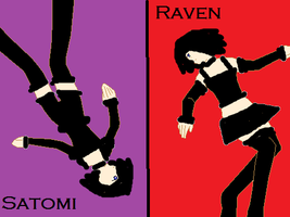 Satomi and Raven by poisonraven5