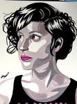 Ashley Burch Ink Drawing by AnthonyParenti