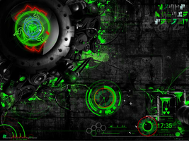 rainmeter razer green by zhenxho