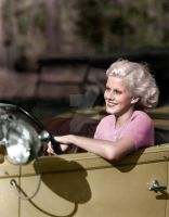 Jean Harlow Driving by Cspringer