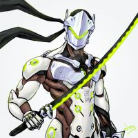 Overwatch 4/8 - Genji by Jevi93
