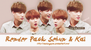 RENDER PACK SEHUN AND KAI by fanknguyen