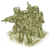 guardsmen wading by zoggin-eck