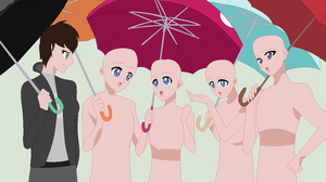Friends in the rain collab by CoolUsernameIsHere