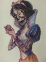 Zombie Snow White by OMKDrawings