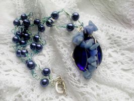 Blue beads sodalite mineral by Mirtus63