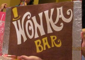 Giant Wonka bar birthday card by drunkonayle