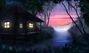 Night Swamp by JKRoots