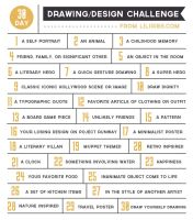 30 Day Drawing and Design Challenge by liliribs