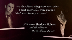Sherlock and John - words by raeuk666