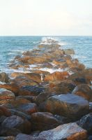 Ponce Inlet Jetty by DracoFlameus