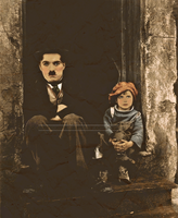 Charlie Chaplin and The Kid by Livadialilacs