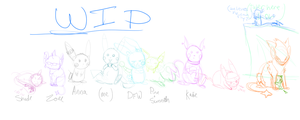 group pic wip by Squirrelflighty