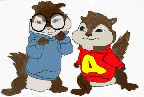 Alvin and Simon by TheCrapRightArt