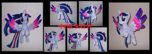 Ooak flying PRINCESS TWILIGHT SPARKLE by MLPT-fan
