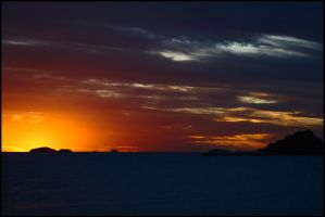 Sunset from Brampton Island 2 by wildplaces