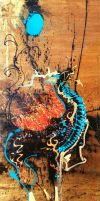 Sold - Qilin and Rising Moon by JWPippen