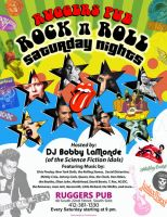 Rock n Roll flyer by cubist1234