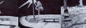 Snow Cone Stain Under Bench by Ryan-M-Stevens