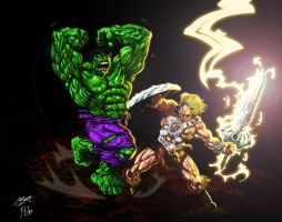HeMan took Hulk's cookie by 00AceOfSpades00