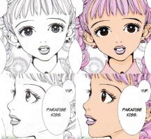 Miwako before and after by ApwilCakes