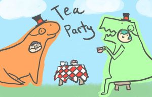 Tea Party - Erica and Rheanna by Kitten-of-Darkness