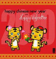 Chinese New Year Valentine by s7eventan