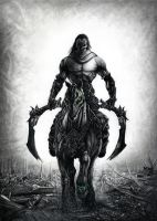 Darksiders 2 Death Drawing by Bajanoski